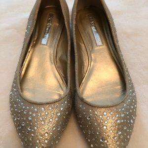 BCBH Generation, gold metallic flat shoes